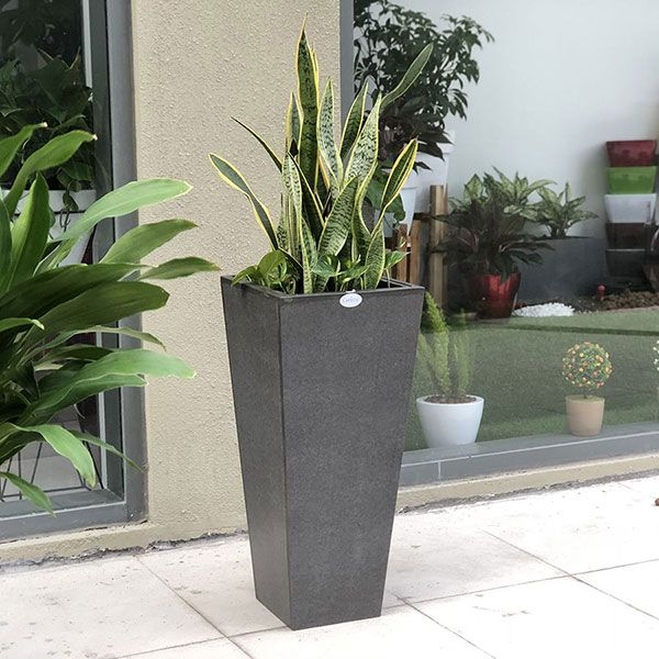 Fiber Planter Cubico Natural