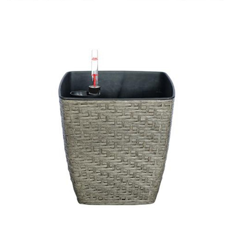 Thin Wicker Planter - Weaved Flat Planter Square 3