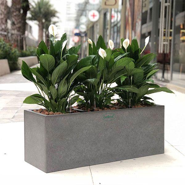 Fiber Planter Rectangular Natural